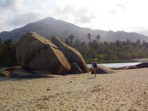 Arrecifes Beach and backdrop