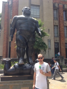 We don't have any photo's from Medellin, so here is a picture of Paul eating an ice cream there