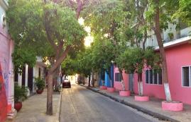 Quiet streets of Santa Marta