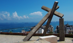 Views over the lower area of Salvador (Cidade Baixa)