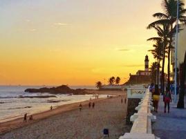 Beach sunset in Barra