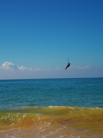 Zip line into the sea