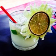 Fancy Caiprinha - The same price as a large beer in some places on the beach...not all though