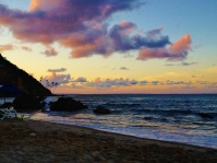 One of the evenings that we let slip by with a beer on the beach - Morro de São Paolo