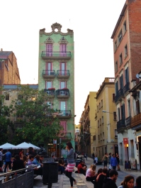 Fun looking buildings around the placa
