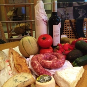 A tempting selection of local fayre - Purchased from the local market