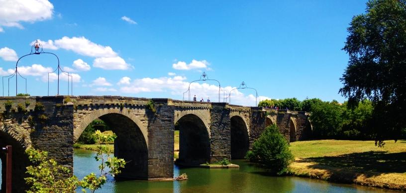 The old bridge in Carcassone